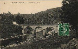 CPA CROZANT Le Pont de la Creuse (1144405)