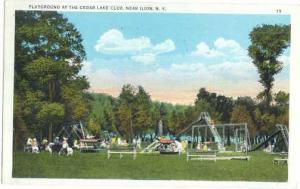 Playground at the Cedar Lake Club, near Ilion New York, 1952 White Border