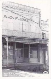 California Auburn Old Town Old A O F Hall Real Photo