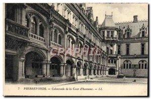 Old Postcard Pierrefonds Colonnade of the Court & # 39Honneur
