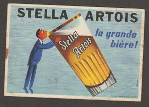 Stella Artois La Grande Biere Vintage Postcard Belgium