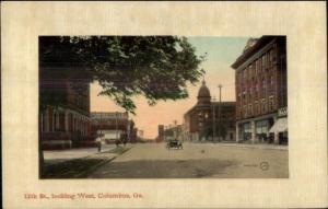 Columbus GA 12th St. c1910 Postcard