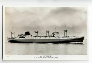 cb0812 - Watts Watts Line Cargo Ship - Weybridge , built 1958 - postcard