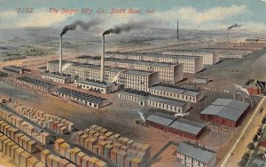 Singer Manufacturing Co Plant South Bend Indiana 1915 postcard