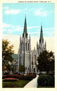 New York Syracuse Church Of Sacred Heart Curteich