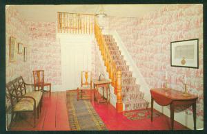 Old Fort House Museum Hallway Fort Edward New York NY Vintage Interior Postcard
