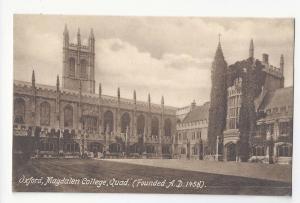 UK Oxford Magdalen College Quad Vtg Frith's Postcard Quadrangle