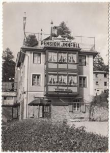 PENSION RESTAURANT INNFALL, St. Moritz, Switzerland, 1960 used Real Photo Card
