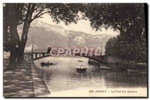 Old Postcard loves Bridge Annecy