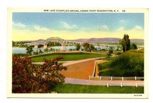 NY - Crown Point Reservation. New Lake Champlain Bridge