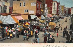Hester Street, Manhattan, New York City, Early Postcard, Undivided Back, Unused