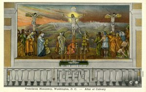 DC - Washington. Franciscan Monastery. Altar of Calvary