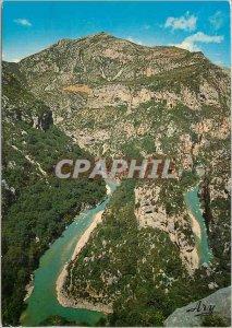 Postcard Modern picturesque Gorges du Verdon L'Anse du Verdon in passing the ...