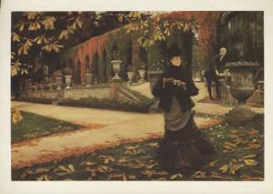 'The Letter' James Tissot National Gallery Of Canada Art Unused Postcard D31