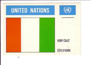 Ivory Coast United Nations Flag Cote D'Ivoire