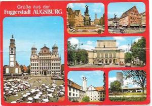 Germany, Augsburg.  Nice scenes, nice stamps.