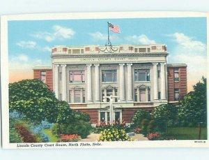 1940's COURTHOUSE SCENE North Platte Nebraska NE AF0280