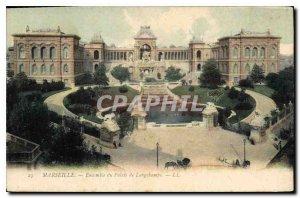 Old Postcard Marseille Ensemble Palace Longchamps