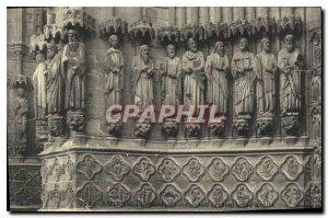 Old Postcard Amiens cathedral Central portal right side