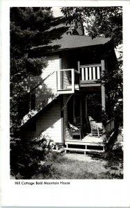 RPPC MARSHALL, NC North Carolina  HILL COTTAGE ~BALD MT HOUSE c1940s  Postcard