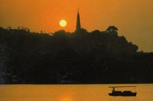 Sunset at Baoshu Pagoda Chinese China Postcard