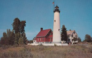 MICHIGAN, 1950-1960's; The Tawas Point Lighthouse