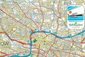 City of Glasgow district map postcard
