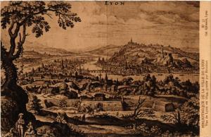 CPA LYON Vue de LYON en 1644 (442706)
