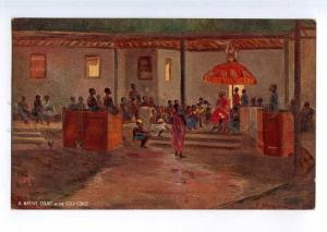 235461 Ghana GOLD COAST Native court Vintage TUCK postcard