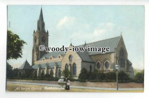 cu2526 - Early View of All Saints Church in Babbacombe, Torquay - Postcard