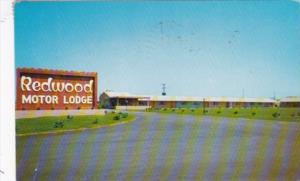 North Carolina Lumberton Redwood Motor Lodge 1957
