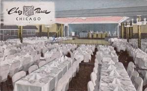 Interior Dining Room Chez Paree French Restaurant Chicago Illinois 1953