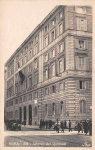 Roma/Rome Italy~Hotel Albergo Del Quirinale~Postcard RPPC 1920s