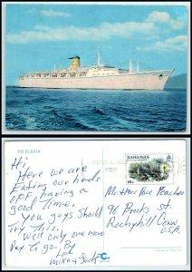 Vintage SHIP Postcard - Cogedor Line T.S. Flavia Cruise / Passenger Ship B4
