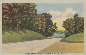 Michigan Greetings From Brown City