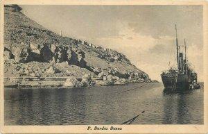 Libya P. Badia Bassa postcard Alessandro Podesta cargo ship