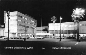 Hollywood California~Columbia Broadcasting System (CBS & KNX)~NICE 50s Cars~RPPC