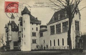 CPA L'Auvergne Chateau de Claviére Ayrens Cantal (101158)