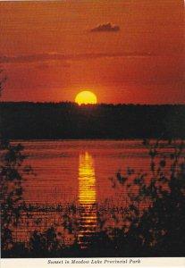 Canada Sunset In Meadow Lake Provincial Park Saskatchewan