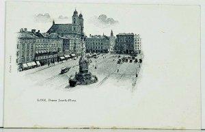 Austria LINZ, Franz Josefs-Platz c1900 Postcard J13