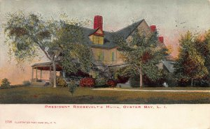 President Roosevelt's Home, Oyster Bay, N.Y., Early Postcard, Used in 1907
