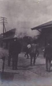 RP: #2/3 Railroad Depot Fire , Clemson , South Carolina , 1904 ;