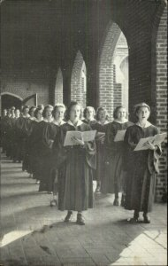 Bethany WV College Corridor Women's Choir Linen Postcard