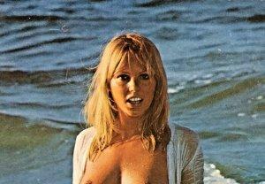 Vintage 1960s German Nude Risque Kruger Postcard Pin Up