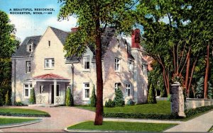 Minnesota Rochester A Beautiful Ressidence 1945