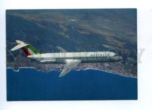 133305 ALITALIA Douglas DC-9/30 with ADVERTISING old postcard