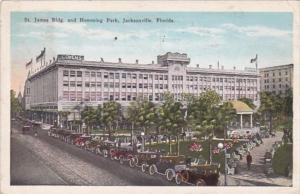 Florida Jacksonville St James Building and Hemming Park 1928