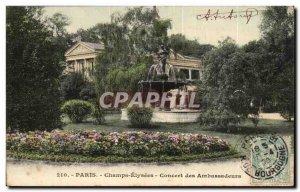 Paris Old Postcard Champs Elysees Concert Ambassadors