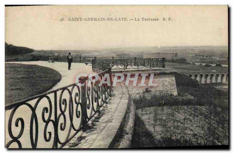 Old Postcard Saint Germain en Laye La Terrasse