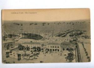172130 GIBRALTAR the Casemates & ships Vintage postcard